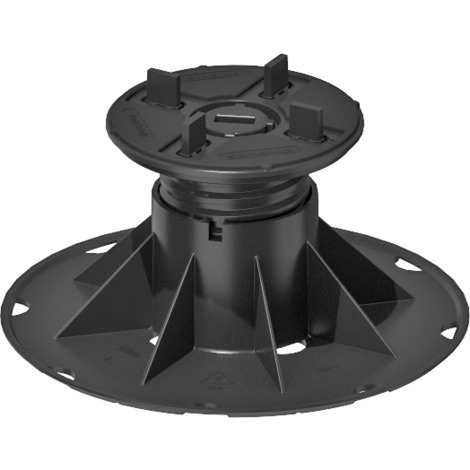 SBP 4 Adjustable pedestal support for raised floor (72-122 mm) with bi-component fixed head with 4 mm tabs for tiles