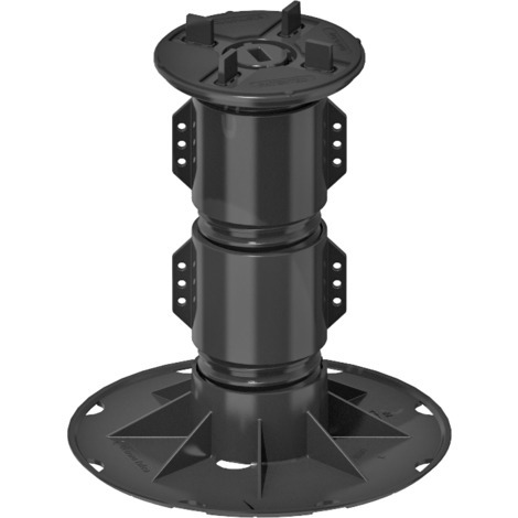 SBPA 7 Adjustable self-levelling pedestal support for raised floor (185-264 mm, SBPA3 + 2 PSB Extenstion) with bi-component head with 4 mm tabs for tiles