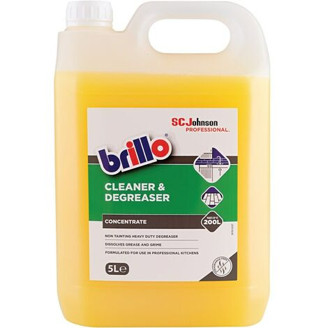 SC Johnson Professional Brillo Concentrated Clean Er/degreaser 5LTR