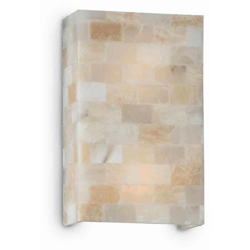 01-ideal Lux - SCACCHI Bernsteinfarbene Wandleuchte 2 Lampen