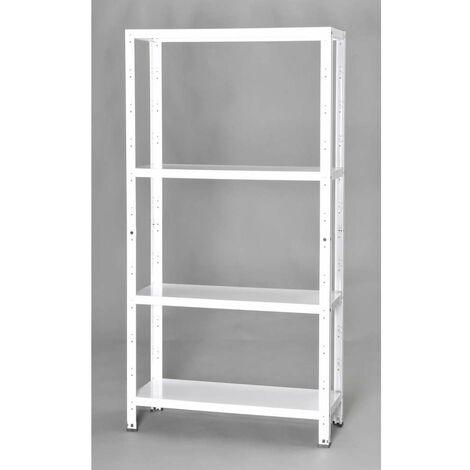 Scaffalature Metalliche Misure Standard.Scaffalatura In Kit 75x30x145 4 R Incastro Bianco
