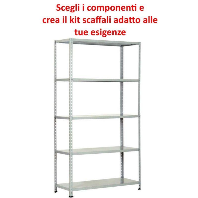 Misure Ripiani Scaffali Metallici.Scaffalatura In Metallo Componibile Varie Misure E Portate Tipo Pesante Con Rinforzo