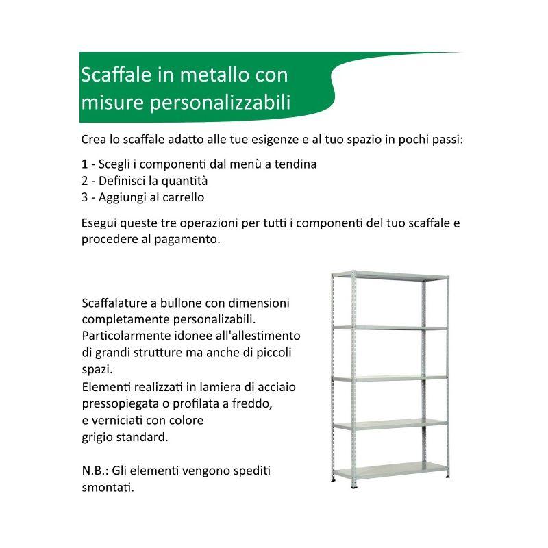 Scaffalature Metalliche Misure Standard.Scaffalatura In Metallo Componibile Varie Misure E Portate Tipo