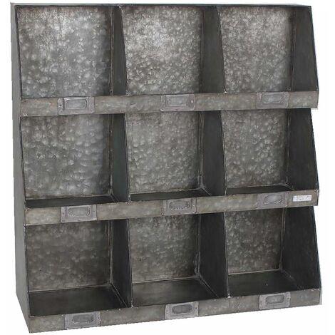 Scaffale A Muro Metallo.Scaffale A Muro Portatutto In Metallo 9 Posti Adami