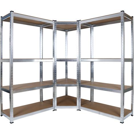 Scaffale angolare per carichi pesanti magazzino officina garage 160 cm