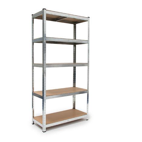 Scaffali Componibili Alluminio.Scaffale Componibile In Metallo Zincato E Pannelli Mdf