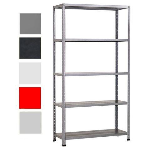 Scaffale Metallo Bianco.Scaffale Kit 100x40 H 185 Bianco Grima