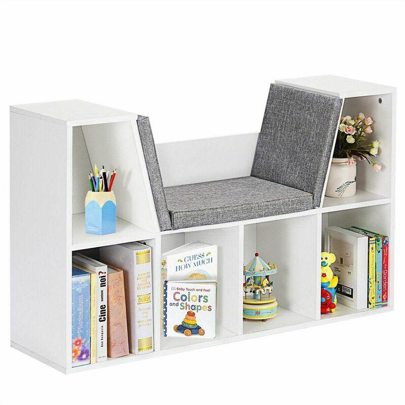 Scaffalature In Legno Per Libri.Scaffale Per Libri Libreria In Legno Con Cuscini Per Bambini