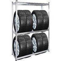 Scaffale pneumatici Portagomme officina garage magazzino 180x120x40cm