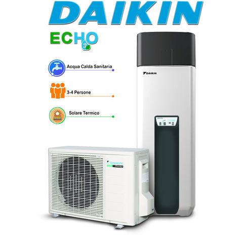 Scaldacqua in pompa di calore per produzione istantanea di acqua calda sanitaria ECH2O + opzional per impianto solare a svuotamento