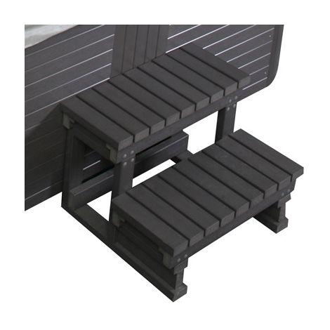 Scaletta in PVC 60x58x49H cm per mini piscina esterna