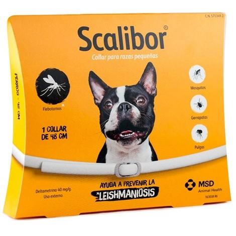 SCALIBOR Collar antiparasitario para Perros Pequeños y Medianos - Especial Leishmaniosis - 48 cm
