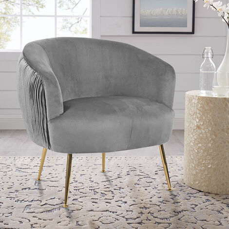 Scallop Oyster Shell Accent Pleated Chair