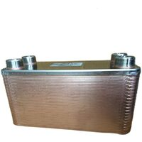 """Scambiatore di calore per caldaia 40 piastre inox saldobrasato 4x3/4"""" pacetti"""