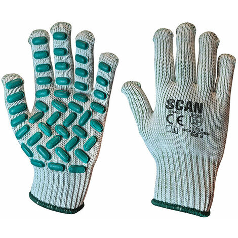 Scan L8500 Vibration Resistant Latex Foam Gloves - Medium (Size 8)