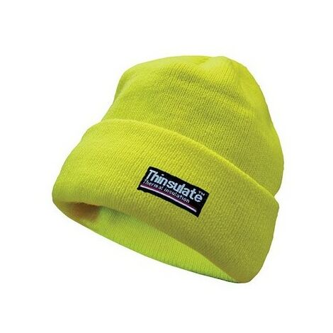 Scan SCAWWHVBEAN Hi-Vis Beanie Hat Thinsulate Lined