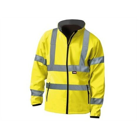 Scan SCAWWHVSJL Hi-Vis Yellow Soft Shell Jacket - L (44in)