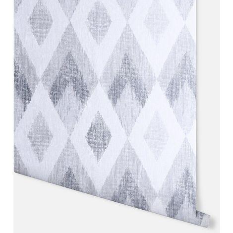 Scandi Diamond Silver Wallpaper - Arthouse - 297200