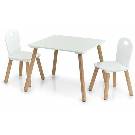 Scandi Kindermöbelset, 2 Stühle + Tisch, Kindermöbel Zeller