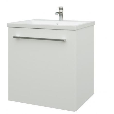 Scandic Bad Waschtisch Unterschrank 50 cm, weiß hochglänzend