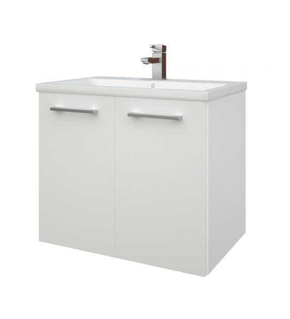 Scandic Bad Waschtisch Unterschrank 60 Cm Weiß Hochglänzend 15132311