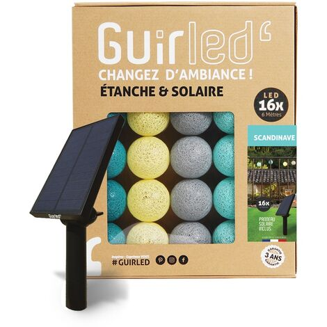 Scandinave Outdoor Guirlande lumineuse Guinguette Solaire boules LED