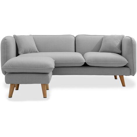 Scandinavian corner sofa Light grey