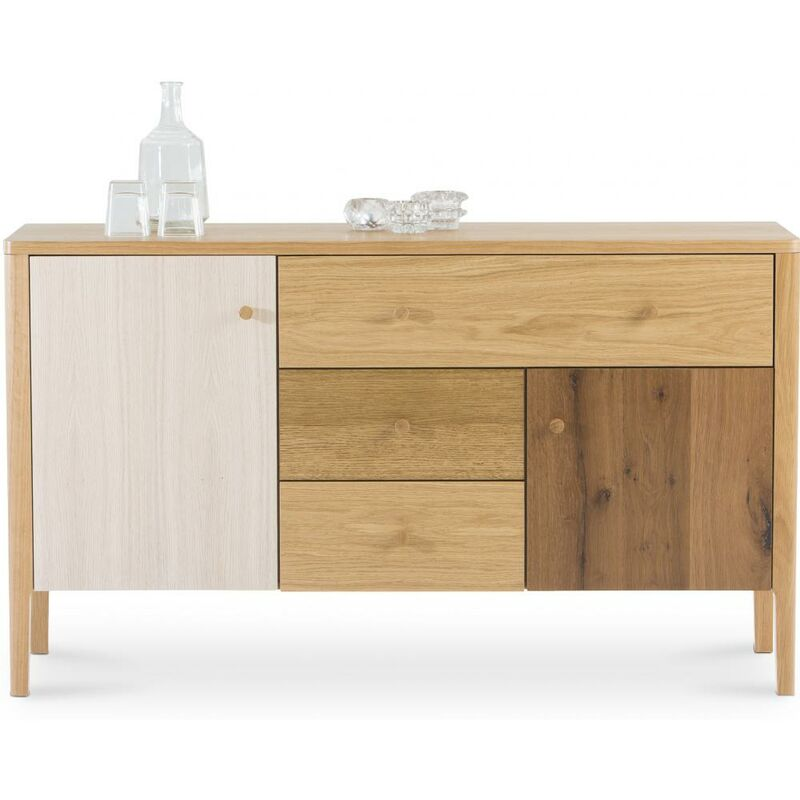 Privatefloor - Scandinavian Style Sideboard aus Holz - Villu Natural wood