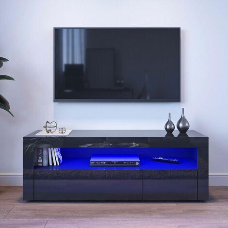 Scandinavian TV cabinet with LED 120 * 35 * 45cm Black LAVENTE