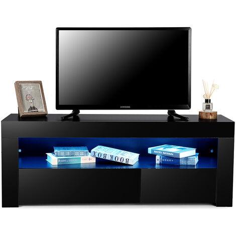 Scandinavian TV stand with LED 120 * 35 * 45cm Black Hasaki