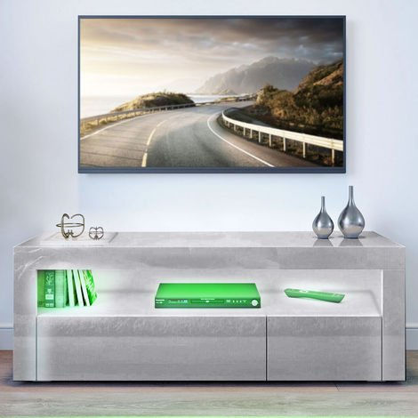 Scandinavian TV stand with LED 120 * 35 * 45cm Gray
