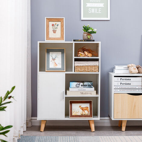 Scandinavian white bookcase 60 * 28 * 80cm