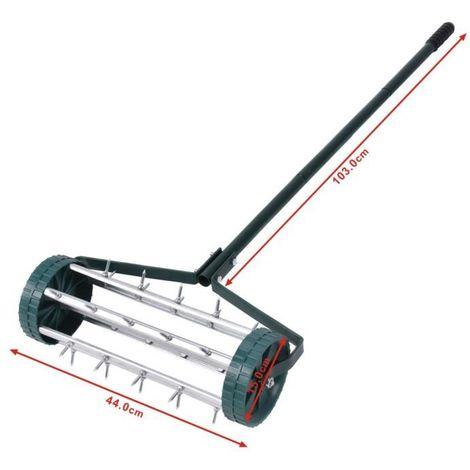 Scarificateur de la bobine d'aérateurs de pelouse de gazon ornemental Scarificateur à rouleaux de gazon jardin