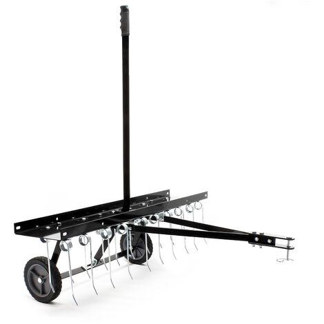 Scarificateur Trainé pour Tracteur tondeuse Largeur de travail 100cm Roues en caoutchouc 7