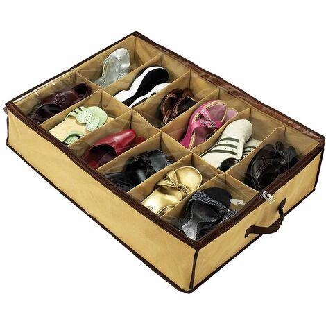 Scarpiera organizer salvaspazio contenitore sotoletto scarpe 12 paia scomparti