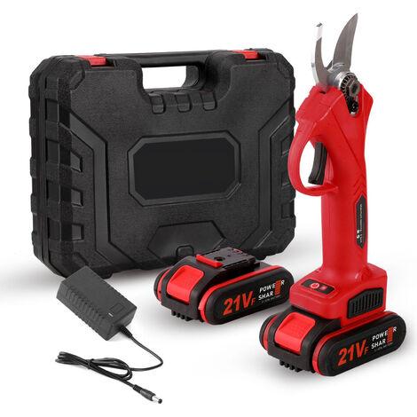 S¨¦cateur ¨¦lectrique, s¨¦cateur rechargeable pour arbres fruitiers de jardinage et de jardinage, deux batteries et une charge