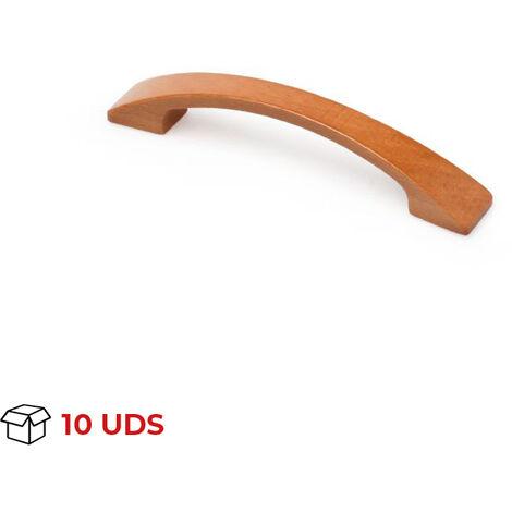 Scatola da 10 maniglie in stile classico, Faggio, Ciliegio, 96mm interasse. Marchio REI