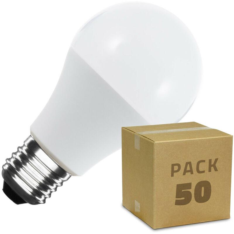 Scatola da 50 Lampadine LED E27 A60 5W Bianco Caldo - LEDKIA