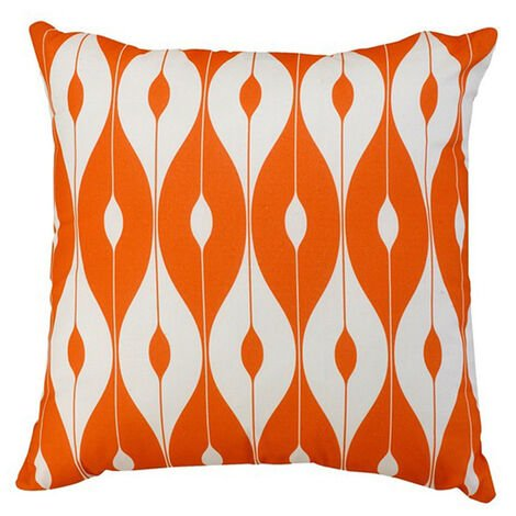 "Scatter Cushion 12""x12"" Orange pattern"