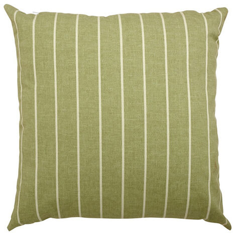 "Scatter cushion 18""x18"" Green stripe"