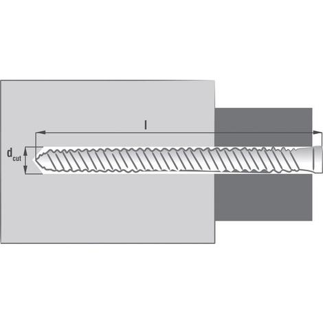 SCELL-IT - VIS FIXATION DIRECTE - Tête réduite - Hexagonale creuse