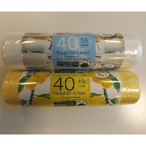 Scented Pedal Bin Liners/Bags - 40 Pack