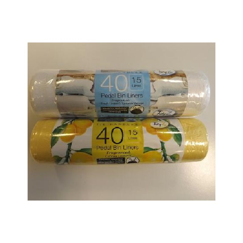 Image of Scented Pedal Bin Liners/Bags - 40 Pack - ARDALE