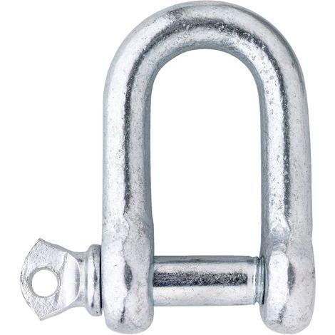 Schäkel ähnl. DIN 82101 - Stahl verzinkt-blau