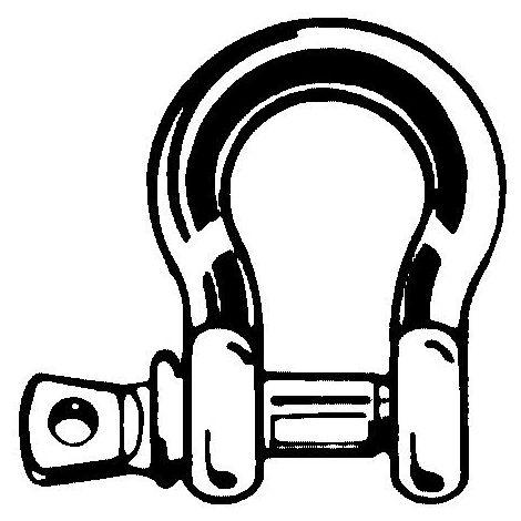 Normschäkel Edelstahl Bolzen-ø 8 mm Lichte=16 mm