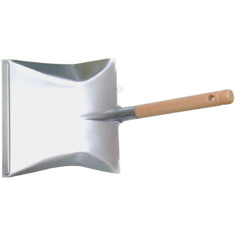 Schaufel Kehrschaufel Kehrblech aus Metall verzinkt mit Holzgriff