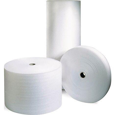 Schaumfolie 1-lagig weiß/transparent B500 mmxL250 mxS2,0mm Kern-Ø 75mm