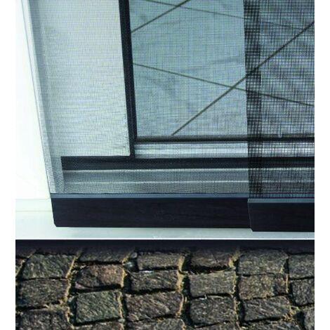 Schellenberg 50663 Premium Rideau moustiquaire de porte Anthracite 115 x 250 cm