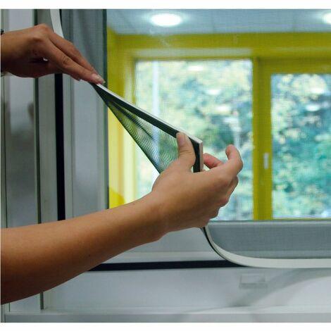 Schellenberg 50748Moustiquaire de fenêtre Magnetic Moustiquaire avec cadre magnétique-Anthracite, 1pièce