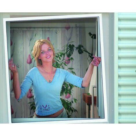 Schellenberg 50789 Moustiquaire pour fenêtre Marron 140 x 150 cm